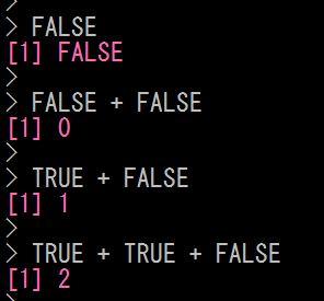 Rで論理値の計算