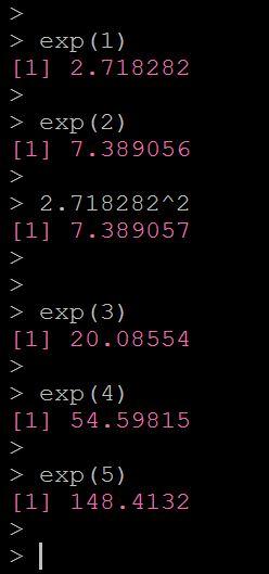 Rで指数関数を計算する