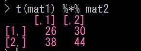 Rで行列積の計算