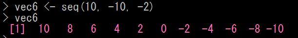 Rで連続値ベクトルを生成する
