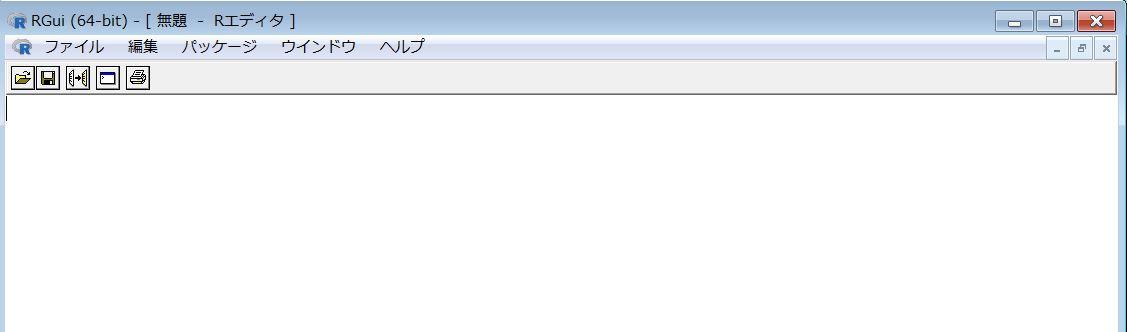 RエディタでCSVファイルをつくる