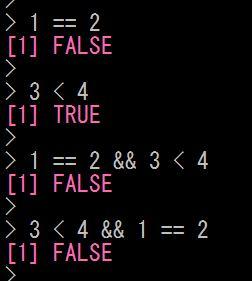 Rで論理結合