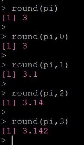 Rで四捨五入する