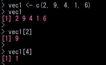 Rでベクトルの要素を取り出す