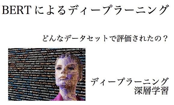 BERT ディープラーニング 深層学習 自然言語処理 データセット 2