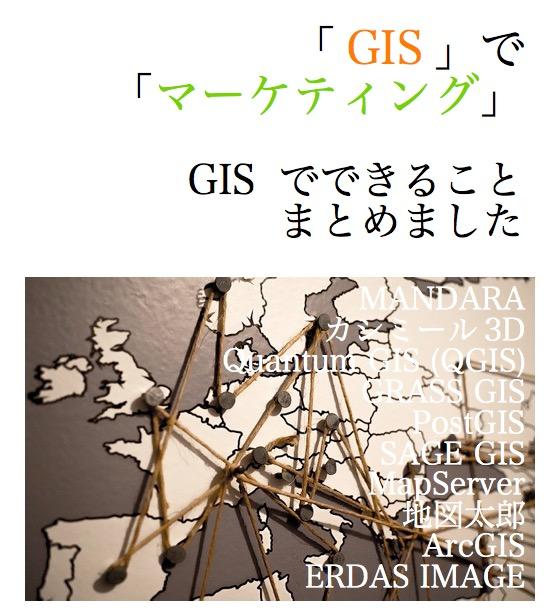 GIS マーケティング できること 活用 国勢調査 ビジネス 本