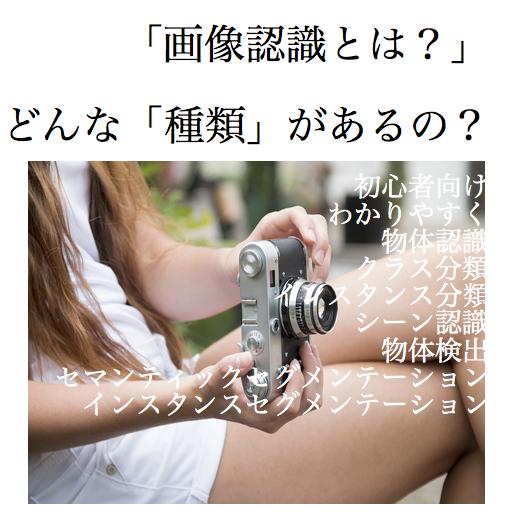 画像認識とは 英語 種類 物体認識 クラス分類 インスタンス分類 シーン認識 物体検出 セマンティックセグメンテーション インスタンスセグメンテーション