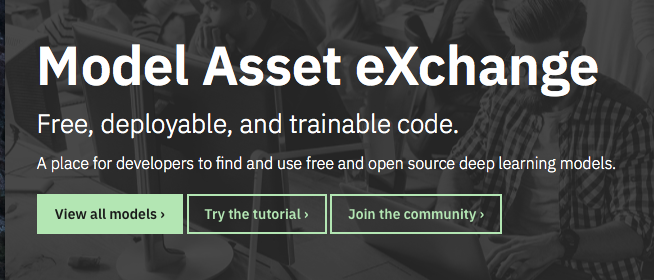 Model Asset Exchange ディープラーニング 学習済みモデル 事前学習 pre-trained model 機械学習 深層学習 deep learning
