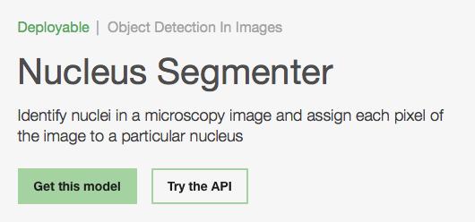 Nucleus SegmenterModel Asset Exchange ディープラーニング 学習済みモデル 事前学習 pre-trained model 機械学習 深層学習 deep learning