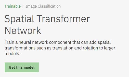 Spatial Transformer Network Model Asset Exchange ディープラーニング 学習済みモデル 事前学習 pre-trained model 機械学習 深層学習 deep learning