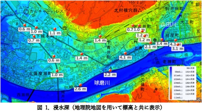 ハザードマップポータルサイト 重ねるハザードマップ 使い方 熊本県 人吉市 際ガキ報告速報 14